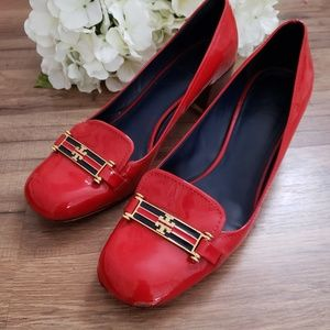 Tory Burch Red Patent Heel size 9.5